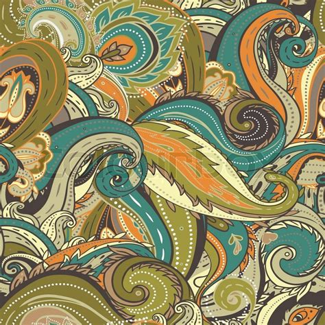 pattern illustrator indian floral paisley indian vector colorful ornate seamless