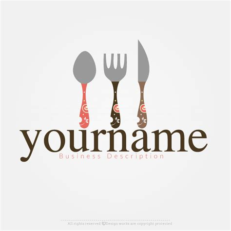 design a restaurant logo online online logo creator cutlery label logo template