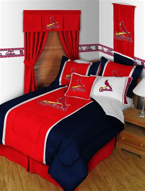 st louis cardinals bedroom decor st louis cardinals mlb microsuede comforter sheet set