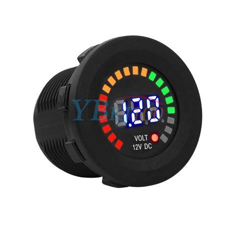 Voltmeter Auto by Led Digital Display Dc 12 Car Boat Auto Atv