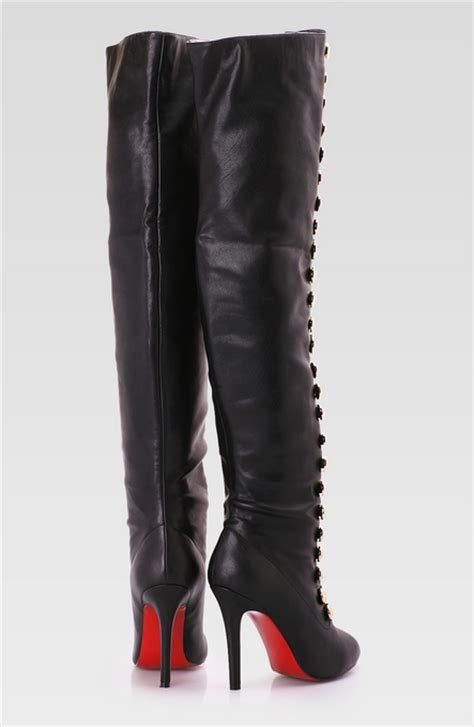 thigh high leather boots black thigh high leather boot