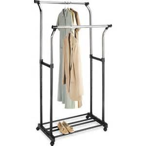 mainstays black and chrome adjustable garment rack