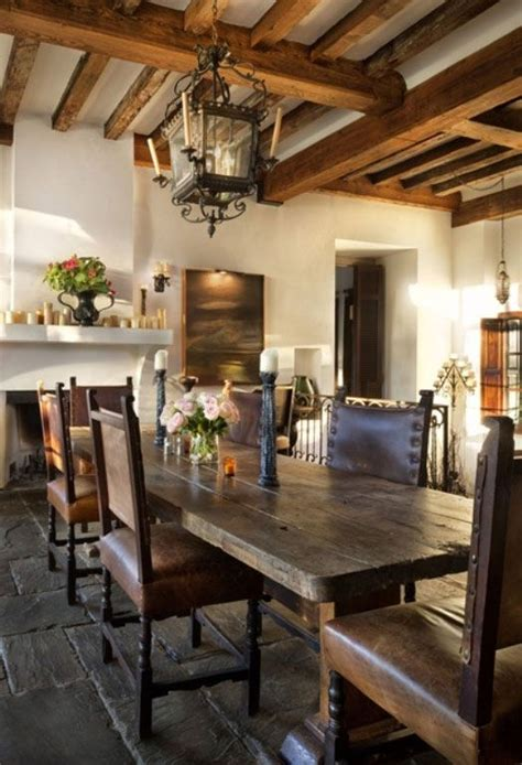 rustic dining room with wooden 4 bordeaux dining chairs 218 best images about spanish style hacienda feel on