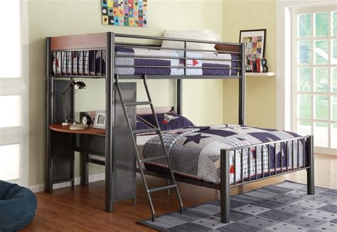 bed over desk division twin over full loft bed with built in desk bunk