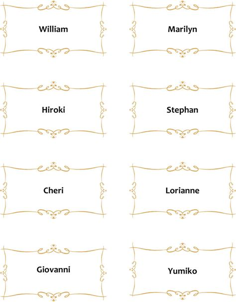 place card template for word place card template free premium templates