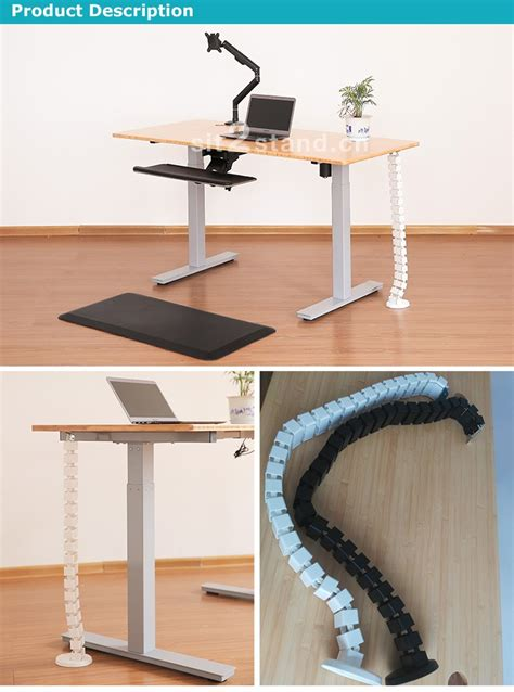 standing desk cable management desk height adjustable cable management with thread