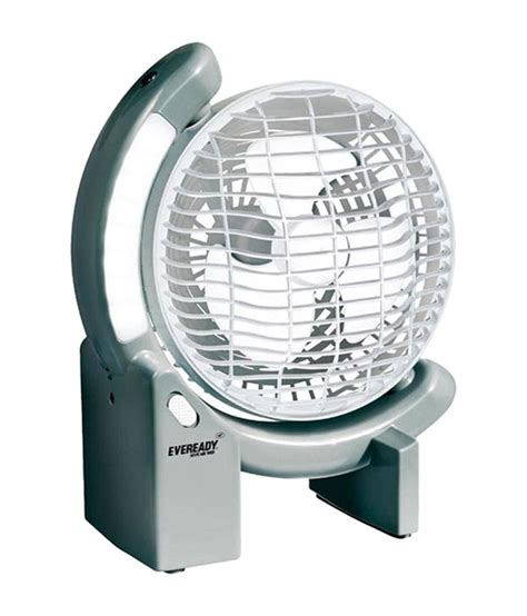 Eveready 150 Mm Rechargeable Table Fan With Led Lights Led Light Price