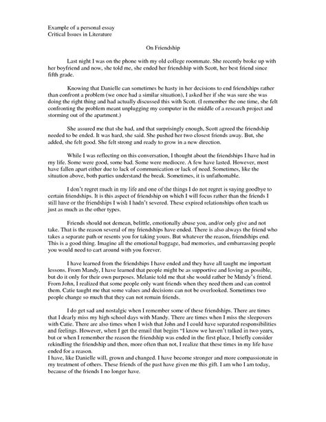 Esl Admission Essay Writer For College by 41 College Personal Essay Exles 10 College Application