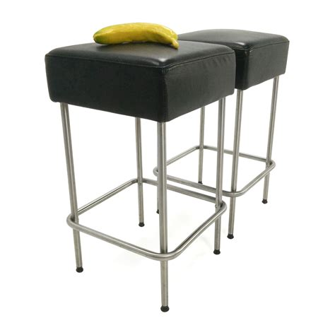 Ikea Bar Stool by 71 Ikea Ikea Black Faux Leather Bar Stools Chairs