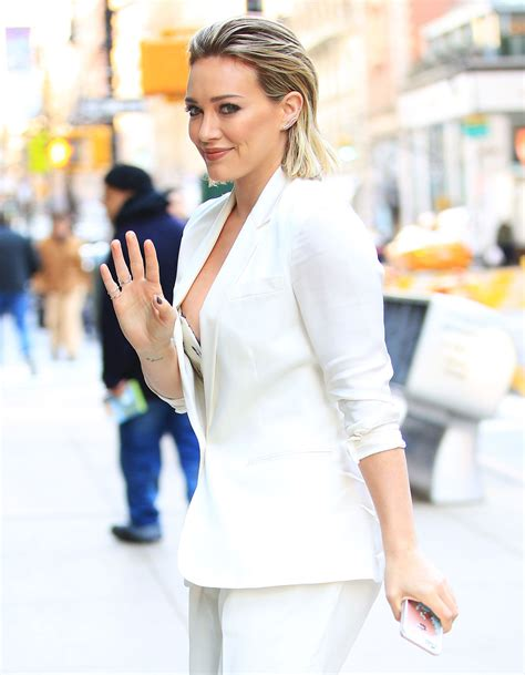Hilary Duff Wardrobe hilary duff slip while arriving at today show ny 12