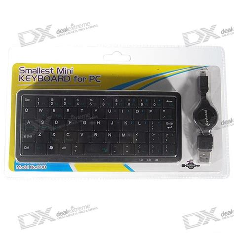 Keyboard Usb Netbook mini 56 key usb keyboard with retractable usb cable for pc and laptops free shipping dealextreme