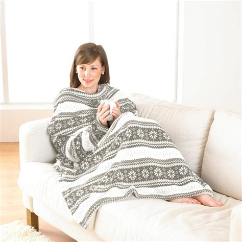 sofa blanket with sleeves stone nordic microfleece sofa throw snuggle blanket with