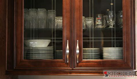 Kitchen Cabinets With Glass Doors Installing Glass In Cabinet Doors Cabinets