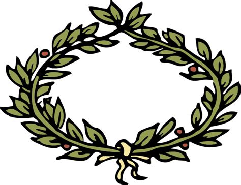 laurel leaf crown template laurel wreath clipart clipart best