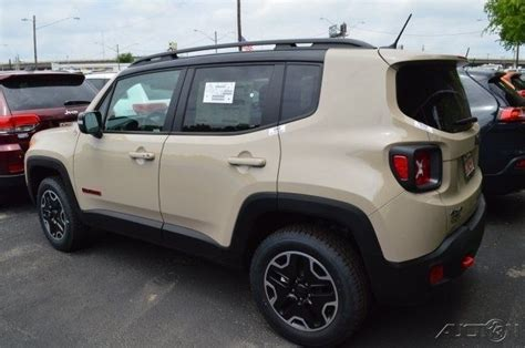 tan jeep renegade j08599 new jeep trailhawk tan suv premium 2 4l i4 16v