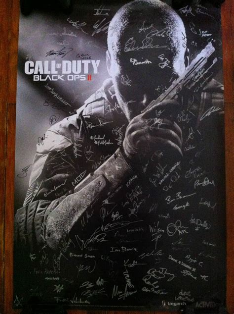 of atari signed edition books call of duty black ops 2 signed poster auctions