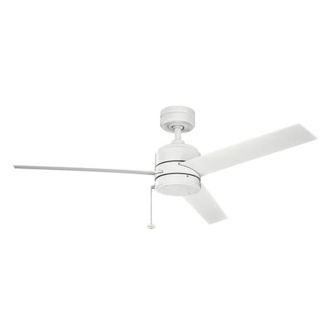 kichler 339529mwh matte white 52 quot outdoor ceiling fan with