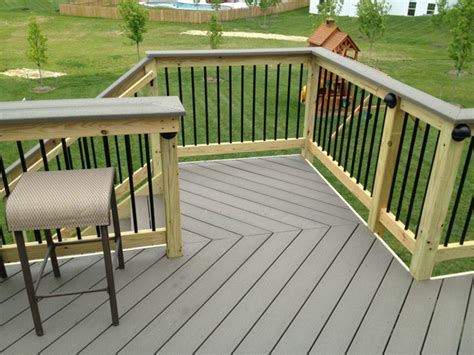 top deck bar deck railing bar top