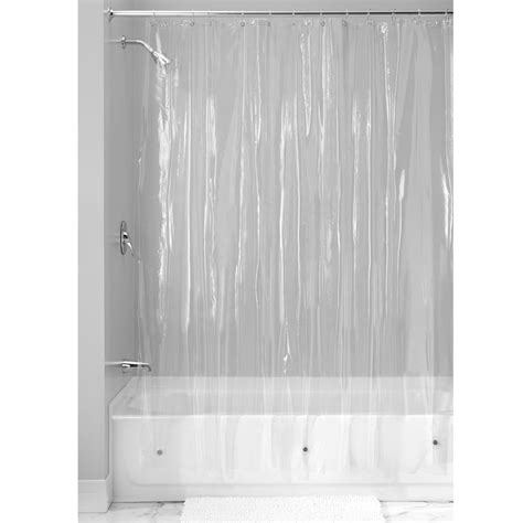 anti mold shower curtain 72 quot by 96 quot long clear vinyl shower curtain bathroom liner