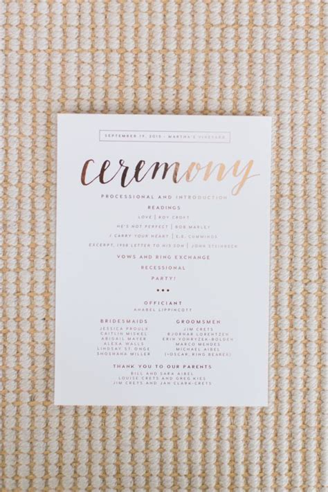 Wedding Gold Fonts by Ceremony Programs Wedding Ceremony Programs And Script
