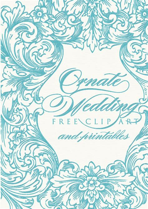 June Wedding Clipart by Ornate Wedding Clip And Printables Cathe Holden S