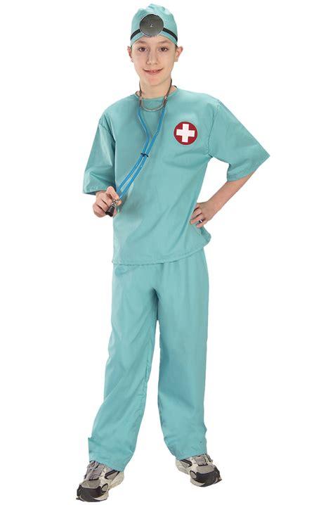 New Doctor Dress Ukuran Besar brand new doctor surgical scrubs child costume ebay