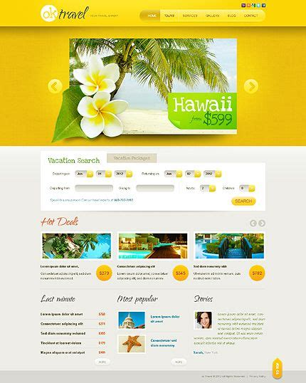 Template 38907 Travel Agency Html5 Jquery Website Template Graphic Web Design Ideas Web Agency Template
