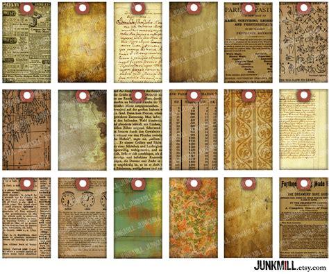 printable paper books paper scrap tags digital printable collage sheet vintage
