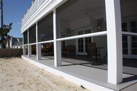 retractable screens at beach front home mantaloking nj