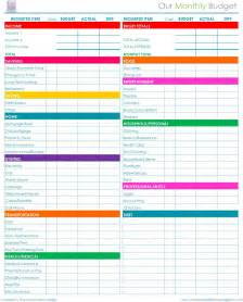 Free Budgets Templates Free Printable Monthly Budget Worksheet Calendar