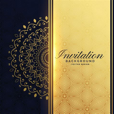 invitation background beautiful golden invitation background with mandala