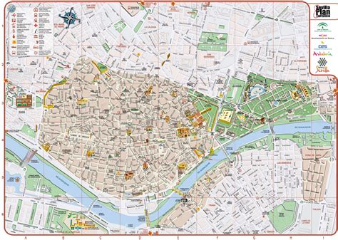 map of city centre seville city center map