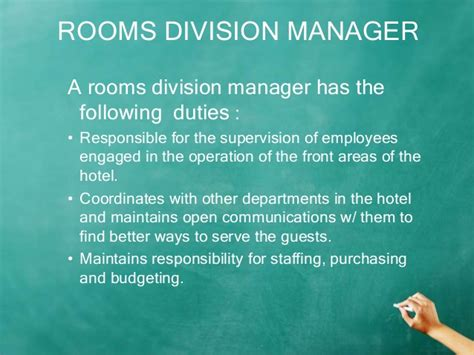 what is room division management in hotel chapter 1 rooms division edited