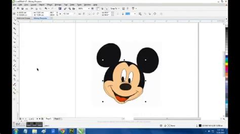 tutorial youtube corel draw como hacer a mickey mouse corel draw youtube