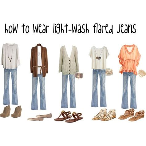 what to wear with light wash jeans how to wear light wash flared jeans inspiration
