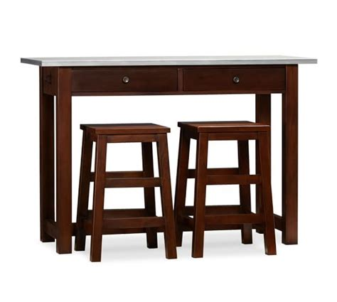 counter height bar stools pottery barn balboa counter height table stool 3 piece dining set