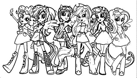 My Little Pony Human Coloring Pages   Kids Coloring