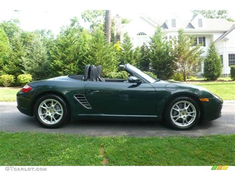 green porsche boxster 2006 forest green metallic porsche boxster 14925101 photo