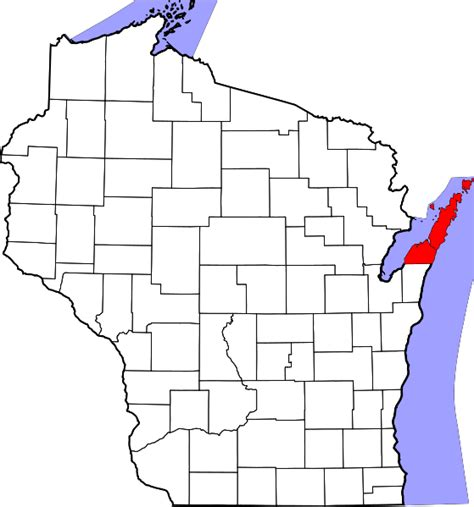 Door County Michigan by Map Of Tourist Attractions In Door County United States