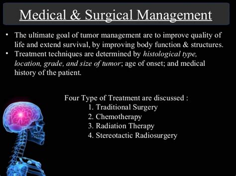 Brain Management brain tumor