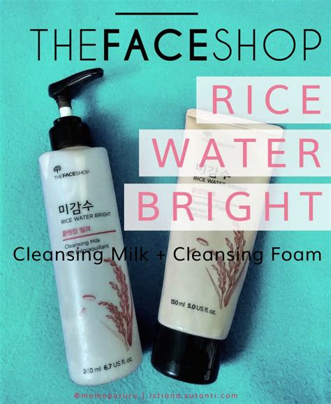 Harga The Shop Rice Water Bright Cleansing Foam review cleanser the shop rice water bright