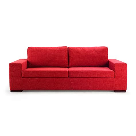 on the red couch red sofa