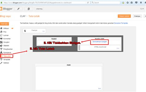 layout atau tata letak adalah clay cara menambah dan memasang widget di blogger