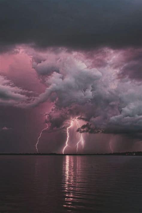 florida lightning storm nature sea landscape vertical