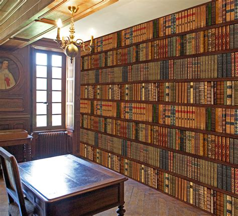Library Wall Mural library bookcase shelf shelves old books photo wallpaper