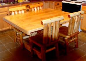 Log Kitchen Table And Chairs Rustic Log Furniture Kitchen Custom Pine Furniture