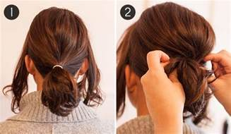 can u wear use hair up with a non layered bob pony up how to make short hair look full in a ponytail