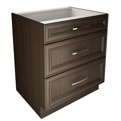 Kitchen Base Cabinets With Drawers | 3 drawer base cabinet cutler kitchen bath a new room