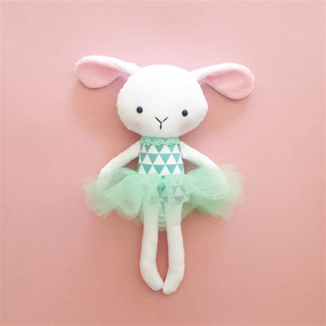 rag doll bunny plush bunny bunny rag doll handmade rabbit doll