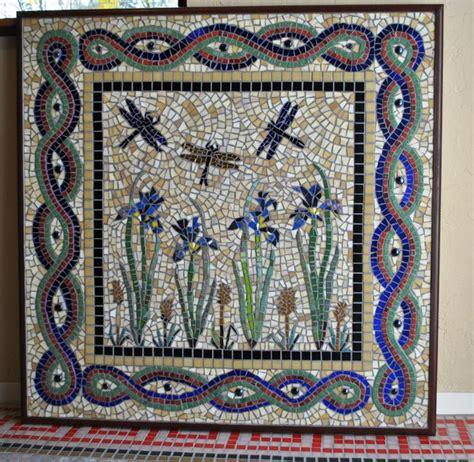 mosaic iris iris dragonfly mosaic kitchen backsplash eclectic
